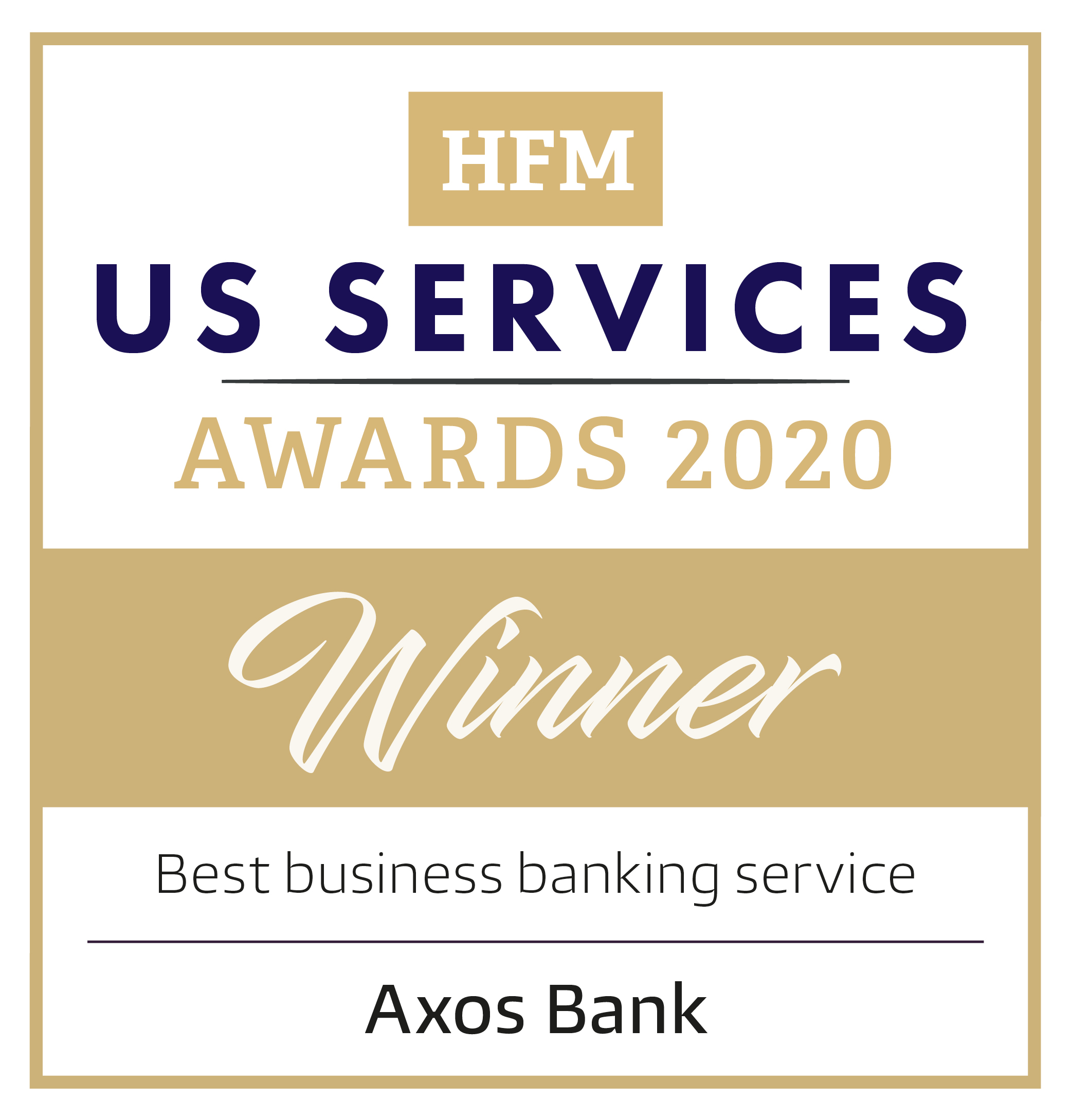 HFM US Services Awards 2020 Winner: Best Business Banking Service