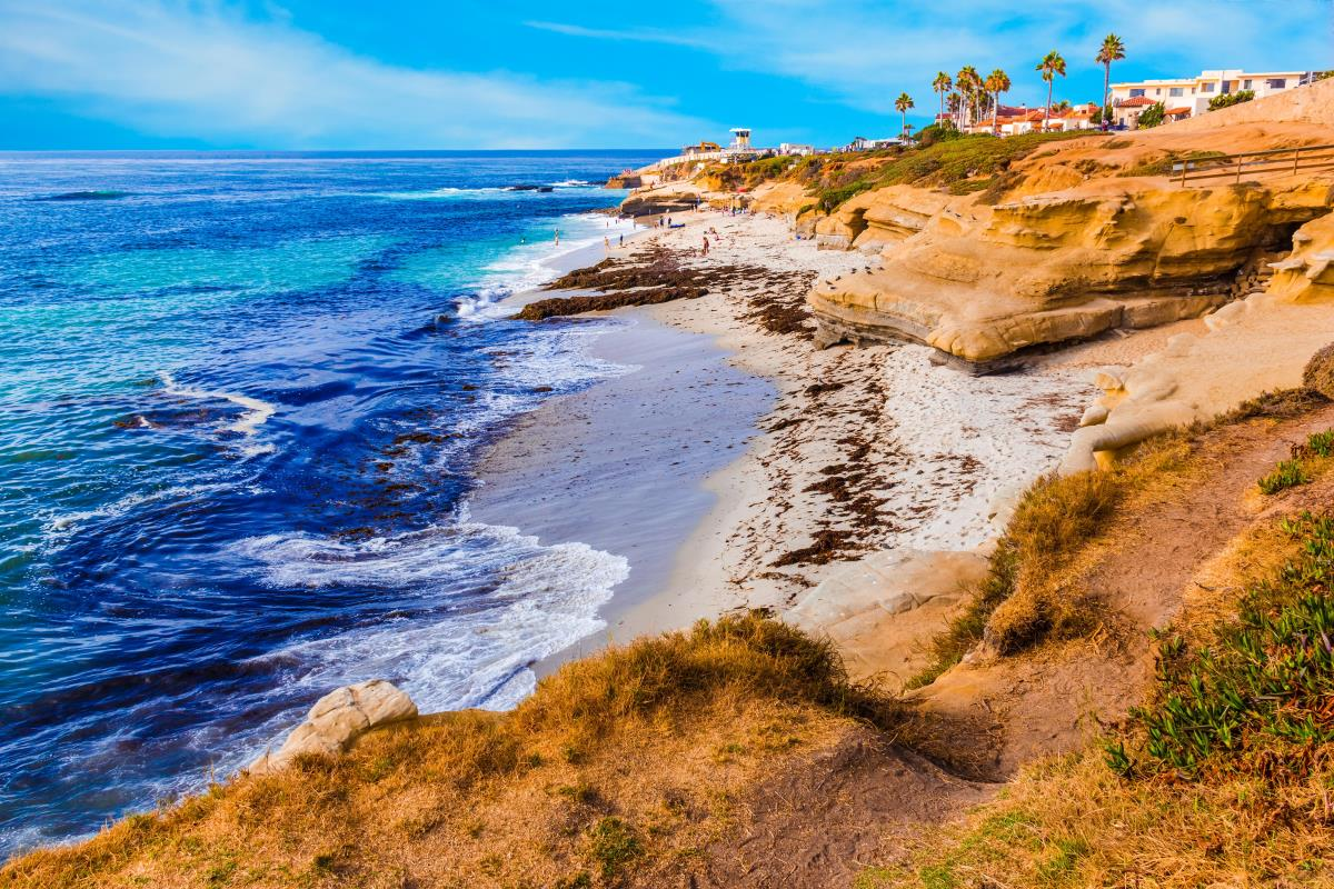 The La Jolla shoreline in San Diego, where Axos Bank is headquartered