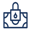 A graphic of a locked wallet