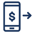 A graphic of a phone with a dollar sign on it