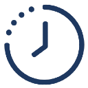 A graphic of a clock