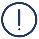 A graphic of an exclamation point surrounded by a circle