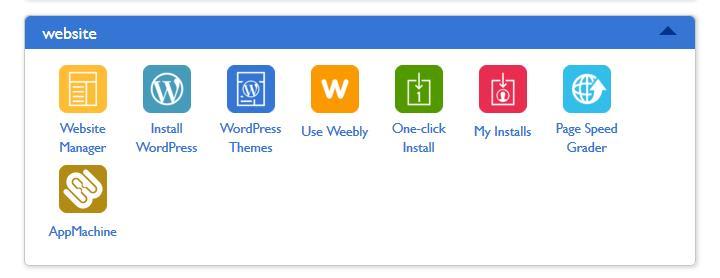 a WordPress interface panel