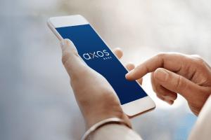 Smartphone displaying Axos Bank Rent or Buy Calculator